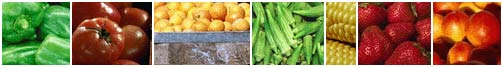photo collage of various fruits and vegetables